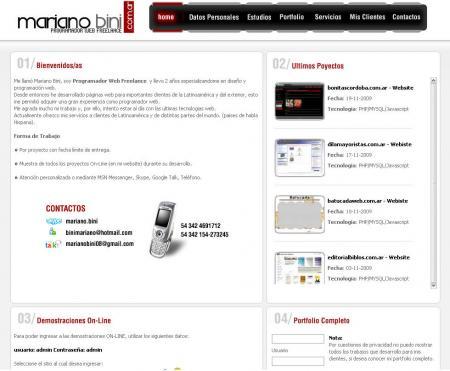 pagina Principal de Mariano Bini