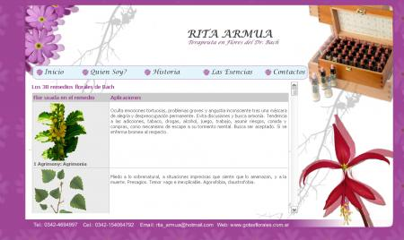 pagina de las esencias florales de rita armua