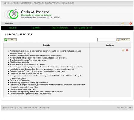 Administrador de carlapanozzo.com.ar