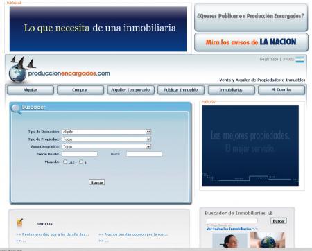 Pagina principal de produccionencargados.com