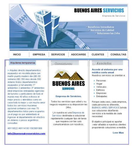 Pagina Principal de buenosairesservicios.com