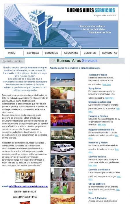 Pagina de servicios de buenosairesservicios.com