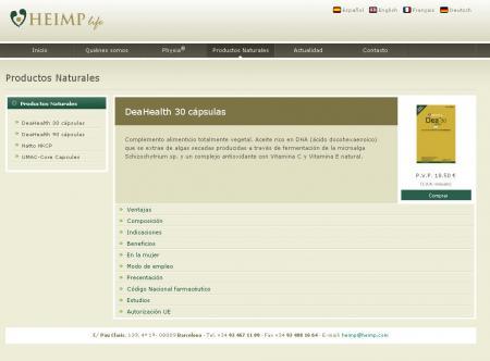 Pagina de detalle de producto con posibilidad de comprarlo