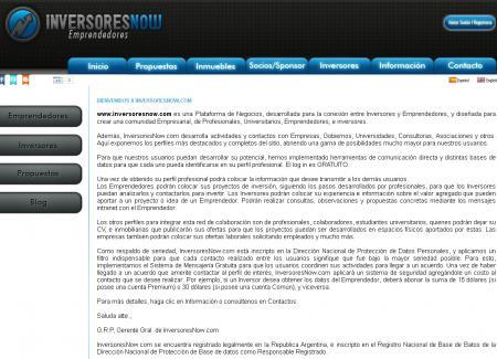 Pagina principal de inversoresnow.com