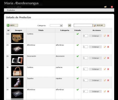 Administrador de productos de mariaaberdeenangus.com.ar