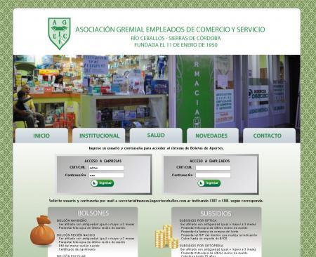 Login  de empresas para acceder a zona privada de agecrioceballos.com.ar