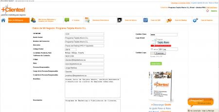 Administrador de datos de la empresa en panel+clientes!