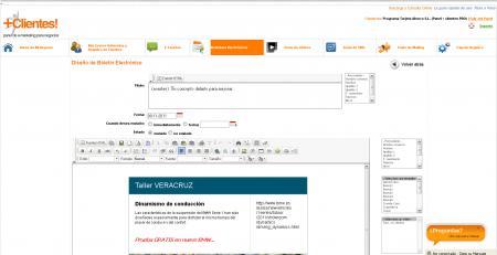 Diseño de boletines personalizados en panel+clientes!