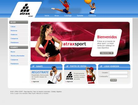 Home de atraxsport.com.ar