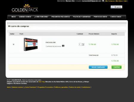 carro de compras de goldenpack.com.ar