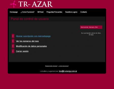panel de usuario de tr-energy.com.ar/azar