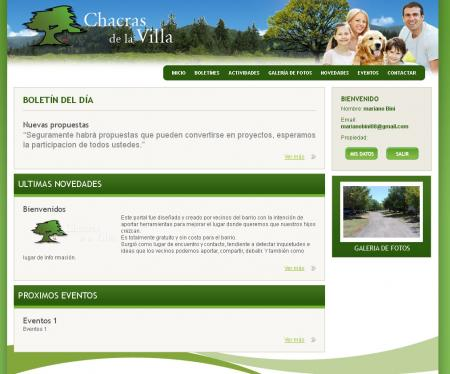 Home de usuarios registrados en countrychacrasdelavilla.com