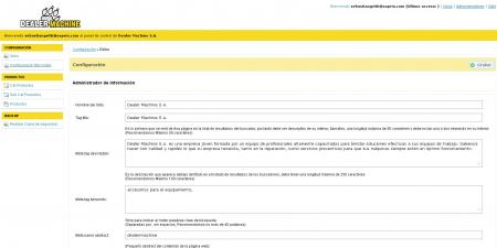 Configuración de SEO en dealermachine.com.ar