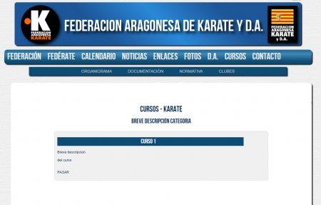 http://federacionaragonesadekarate.es/ - Programación -