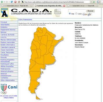 Información de federaciones