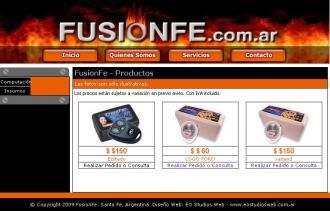 Pagina principal de FusionFe