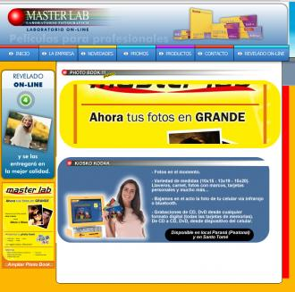 Pagina principal de Masterlab